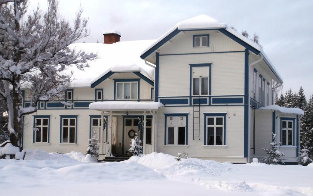 B&B in Zweden Geijersholm Herrgard in de winter