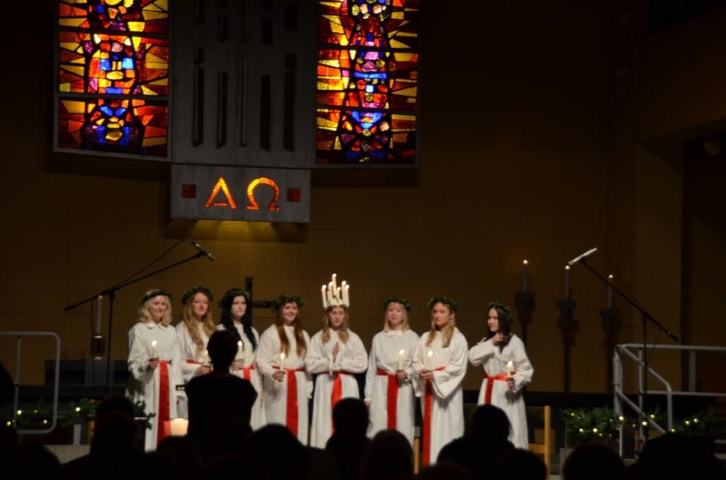 Luciadag in Tegskyrkan