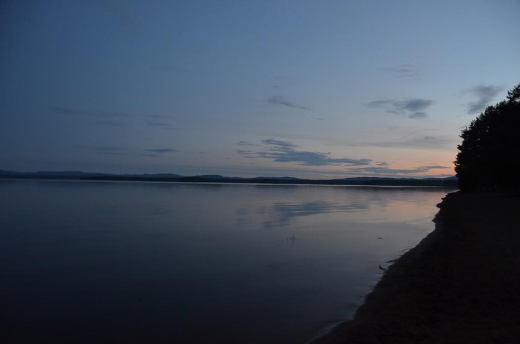 Orsa Camping om middernacht