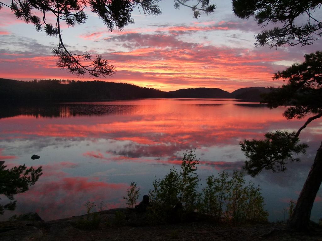 Pinnarp Camping Zweden avondrood