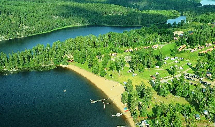 Pinnarp Camping Zweden luchtfoto
