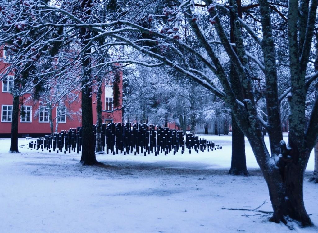 Skulpturparken Umea ingang