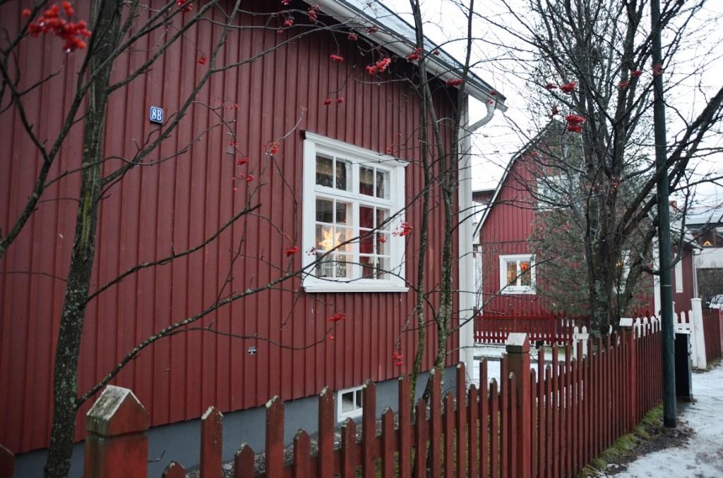 Straten van Umea rood