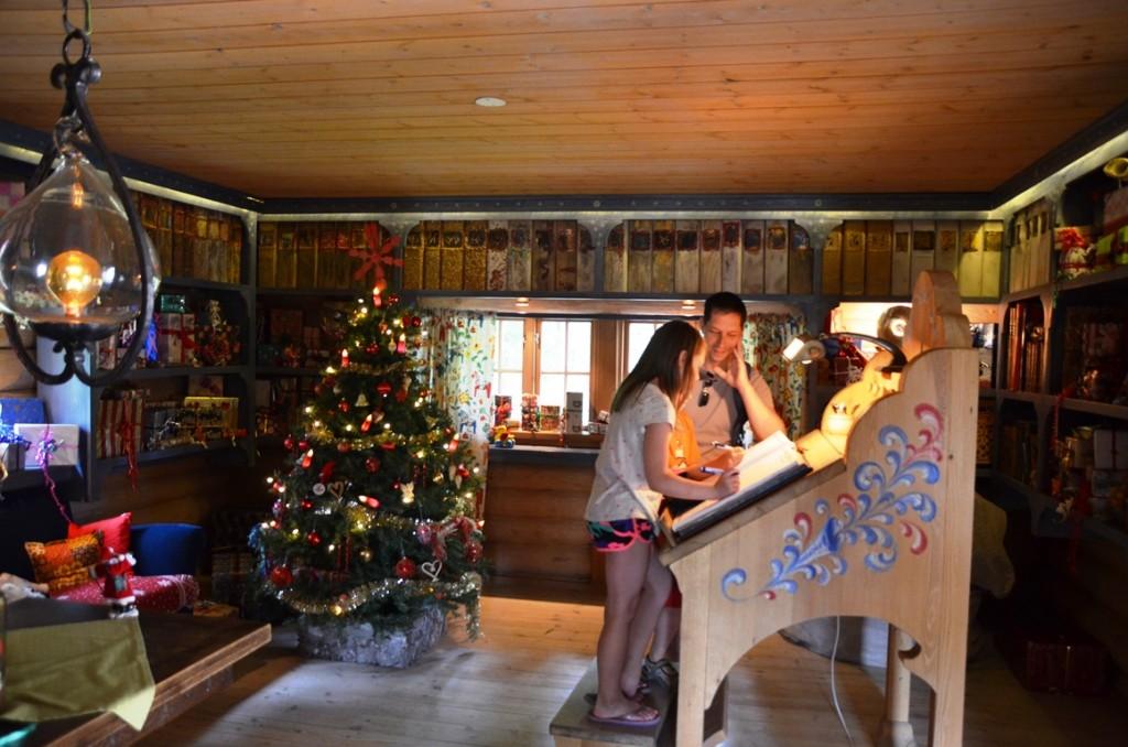 gastenboek van de kerstman in Tomteland Dalarna