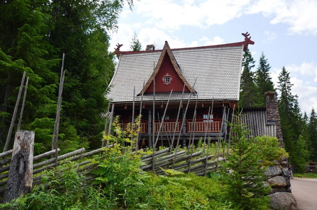 huis van de kerstman in Tomteland Dalarna