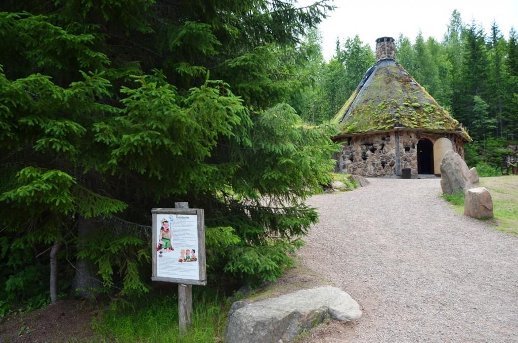 huis van de trollen in Tomteland Dalarna