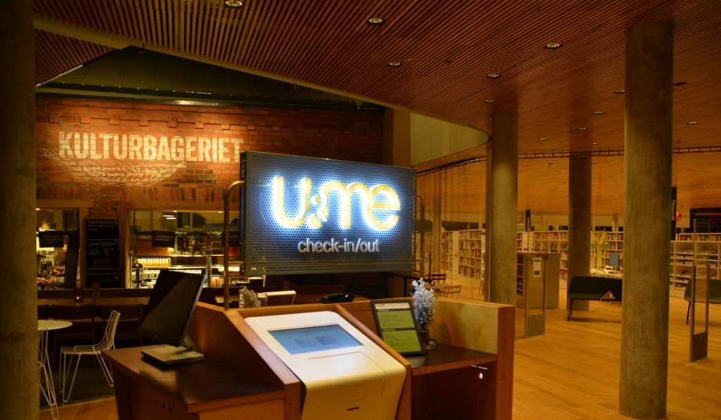 Hotel U&Me Kulturbageriet en de bibliotheek