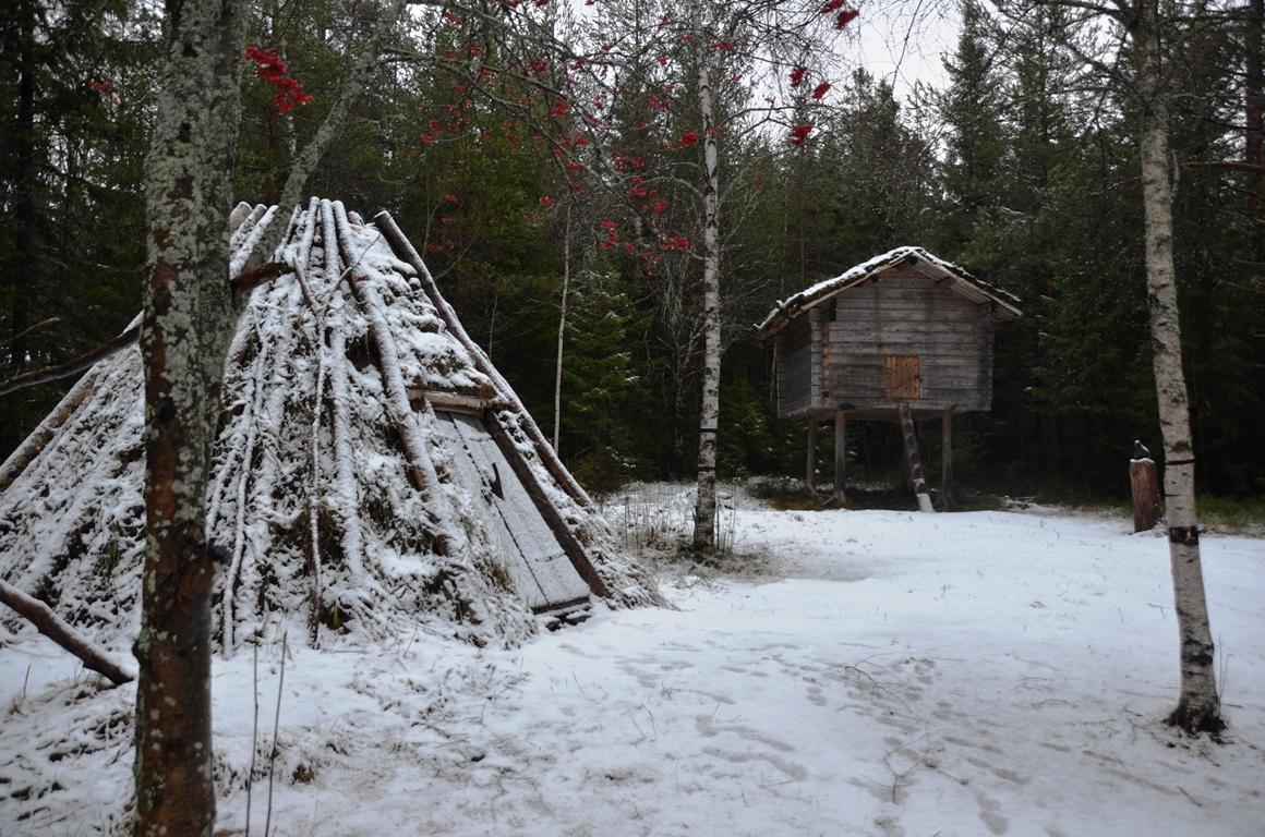 Sami-nederzetting in Västerbottens Museum