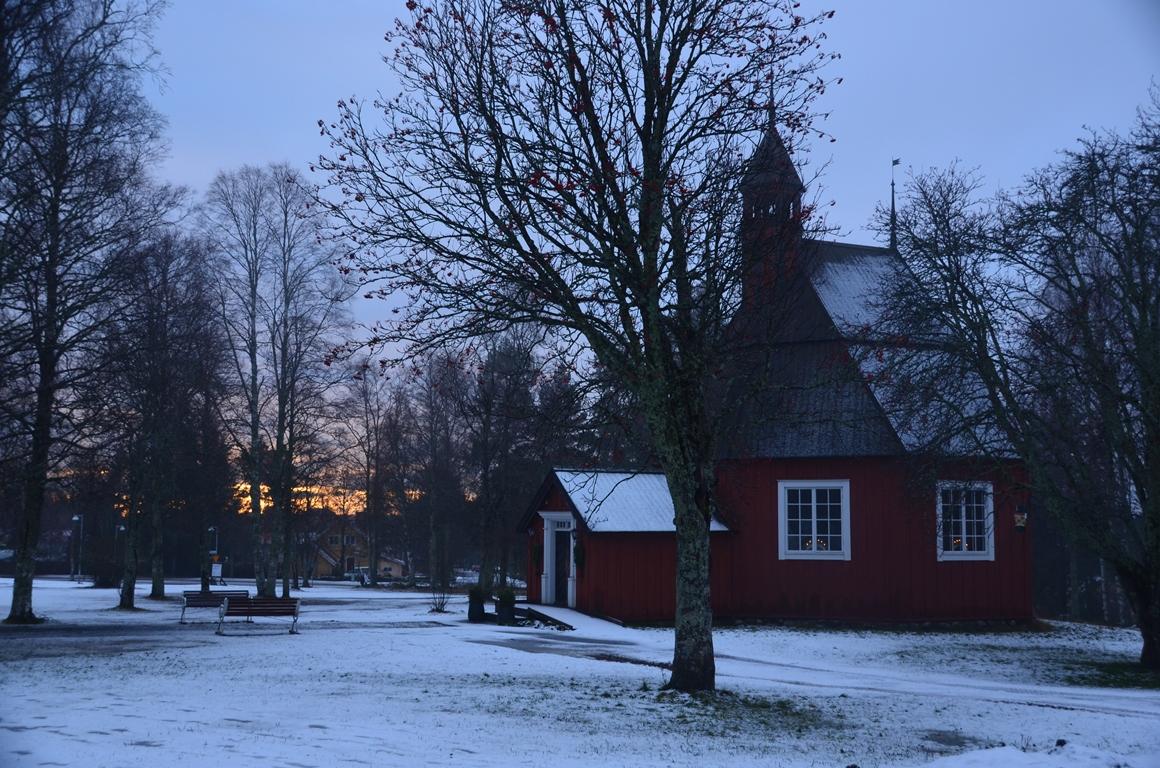 Kerk in openluchtmuseum Västerbottens Museum