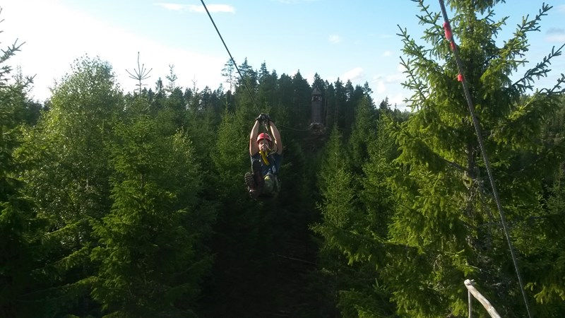 Zipline Little Rock Lake in Zweden