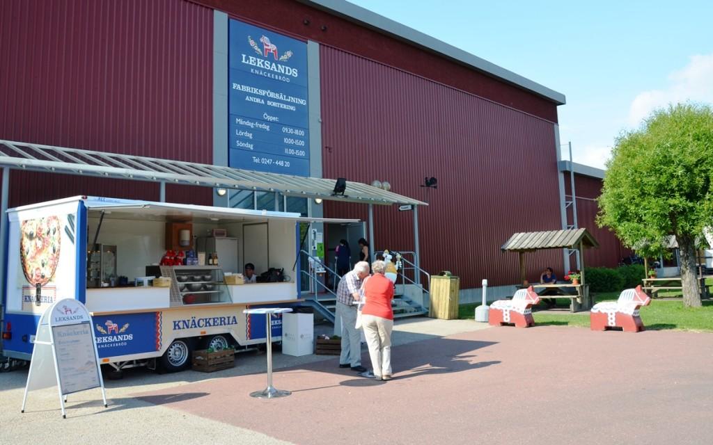 Knackebrodfabriek in Leksand, Dalarna, Zweden