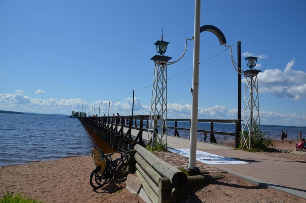 Pier in Rättvik, Dalarna, Zweden
