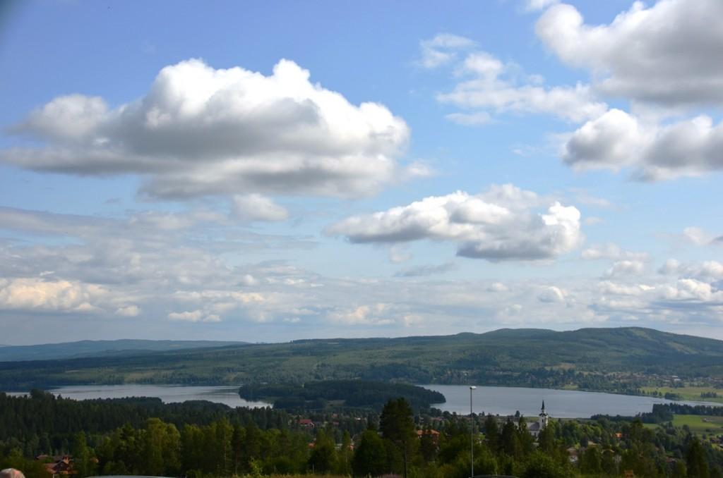 uitzicht Naturum Dalarna in Zweden