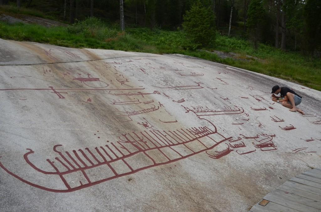 Rotstekeningen van Tanum en Vitlycke Museum