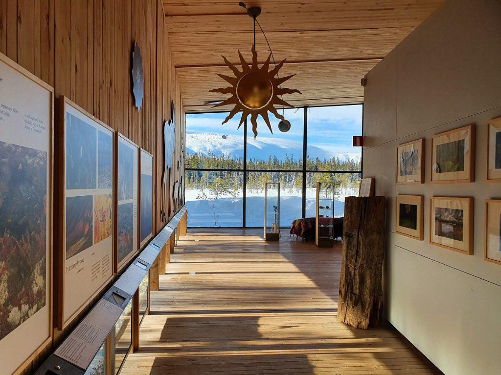 bezoekerscentrum fulufjallet in de winter